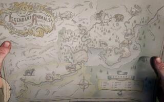 Карта легендарных животных RDR 2