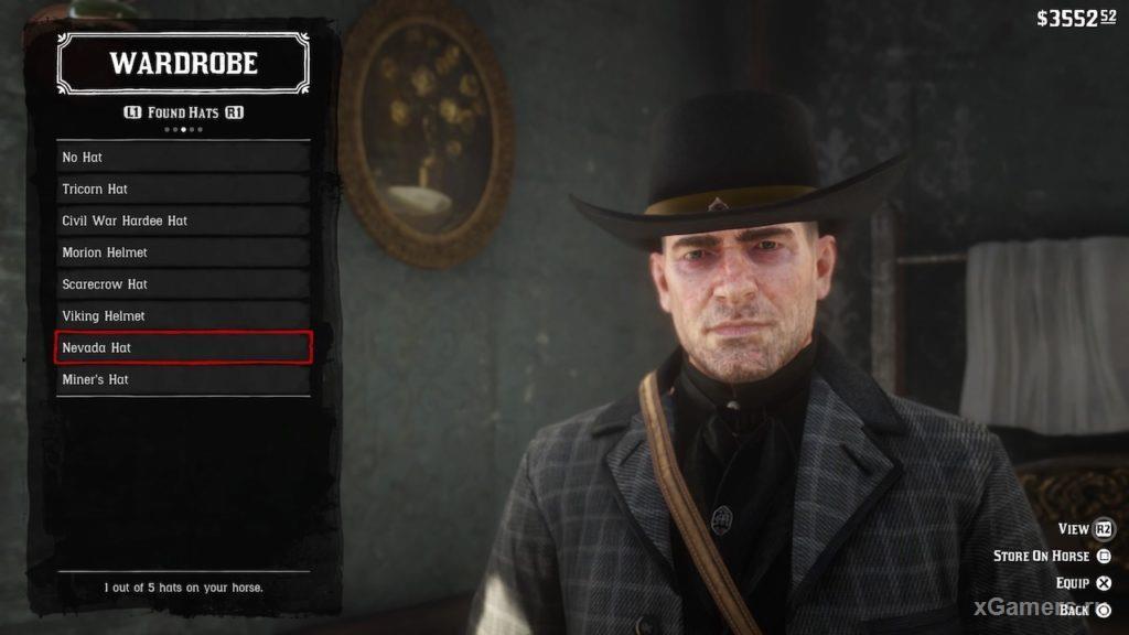 Шляпа невада - самая редкая шляпа в игре